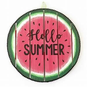 Watermelon Hello Summer Sign - BugabooCity