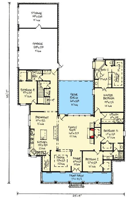 Outdoor Living Floor Plans by Plan 14177kb Acadian Home Plan With Outdoor Living Room