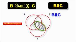 10th Maths Sslc Venn Diagrams A U2229b  A U2229c  And B U2229c Shading Regions For Three Sets