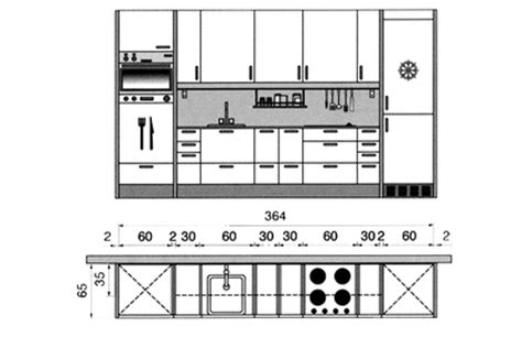 plans de cuisine ouverte plan cuisine gratuit 20 plans de cuisine de 1 m2 à 32 m2