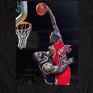MICHAEL JORDAN DUNK ON LEBRON JAMES *CUSTOM OLDSKOOL ART ...