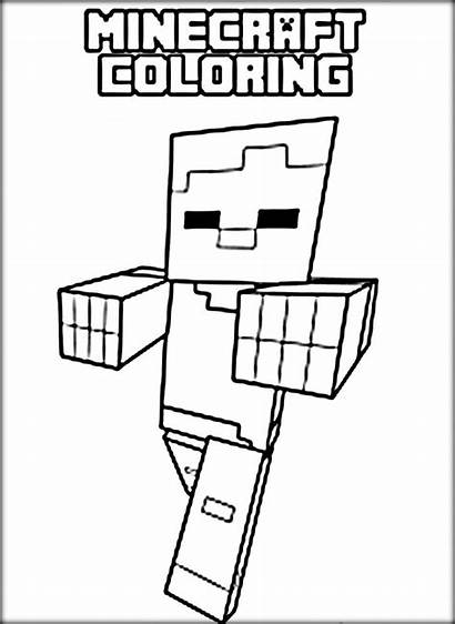 Minecraft Coloring Pages Spider Zombie Printable Alex