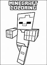 Minecraft Coloring Pages Zombie Printable Spider Characters Alex Steve Cool Getcolorings Getdrawings Col sketch template