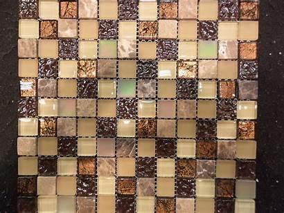 Tile Backsplash Mosaic Looks Copper Ceramic Glass