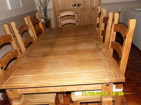 mexican style dining table  chairs pine corner tv unit  sandhurst berkshire gumtree