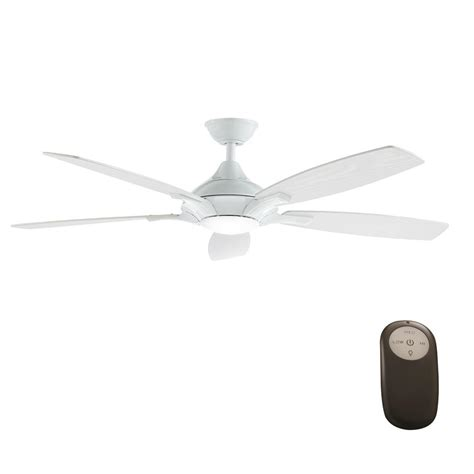 52 white ceiling fan with remote control home decorators collection petersford 52 in integrated