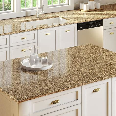 lowes granite countertops colors allen roth brockeye quartz kitchen countertop sle at