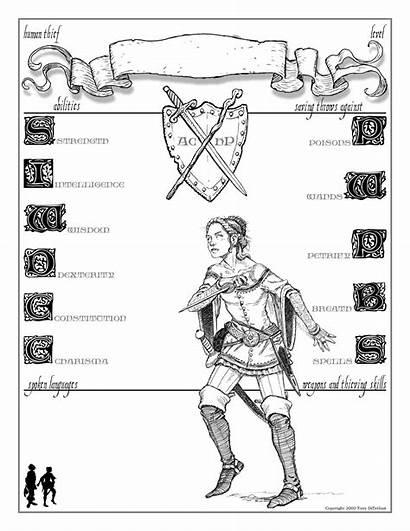 Character Sheet Dnd Rpg Diterlizzi Sheets Human