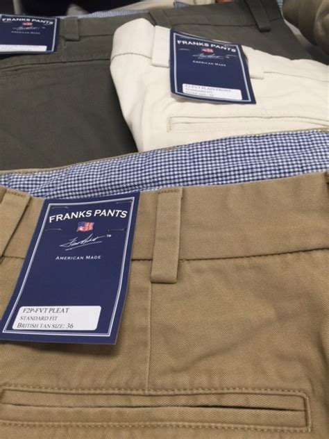 franks pants vintage twill khakis dann clothing trousers