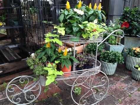 garden wheelbarrow yard decor
