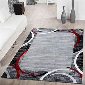 Türkische Teppiche Modern : teppich modern preiswert bord re halbkreis meliert wohnzimmerteppich grau rot moderne teppiche ~ Markanthonyermac.com Haus und Dekorationen