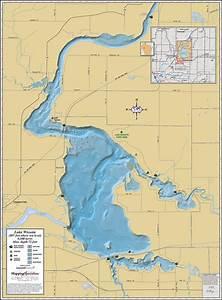 Lake Wissota Wall Map