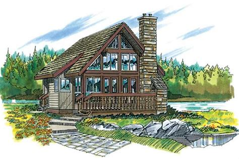 cabin houseplans home design sea