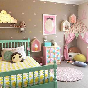 20 whimsical toddler bedrooms for little girls pillows With lets play with cute room ideas