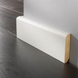 Sockelleisten Holz Weiß : logoclic sockelleiste wei 2 6 m x 16 mm x 90 mm gerundet bauhaus ~ Markanthonyermac.com Haus und Dekorationen