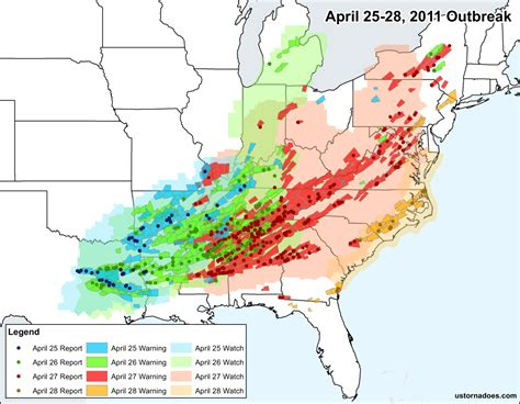 How The Top Multi-day Tornado Outbreaks Since 2006