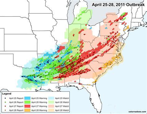 foto de How the top multi day tornado outbreaks since 2006