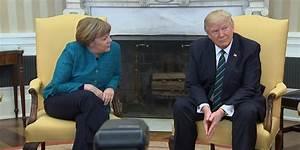 Watch the awkward moment when Trump doesn't shake Angela ...
