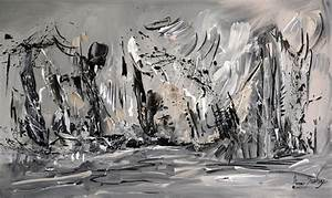Tableau Moderne Noir Et Blanc : tableau abstrait gris noir blanc 2017 et peinture noir et blanc des photos ~ Teatrodelosmanantiales.com Idées de Décoration