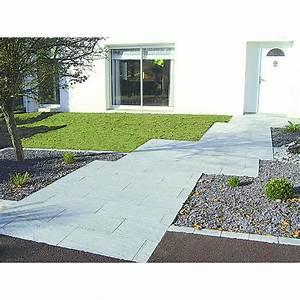 Dalle en beton d39aspect schiste et ardoise pour l for Dalle en beton exterieur