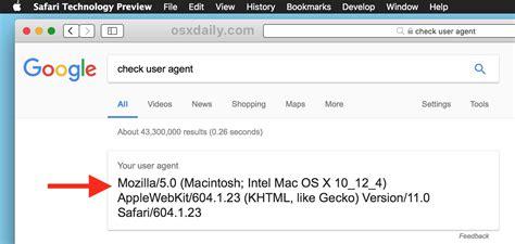 internet mac safari explorer agent user pc google websites switch detected webkit again check
