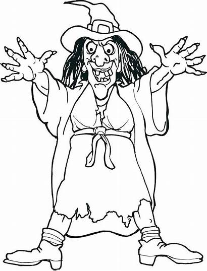 Coloring Pages Hansel Gretel Witch Halloween Scary