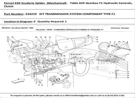 Ferrari Part Number 234259 Kit Transmission System