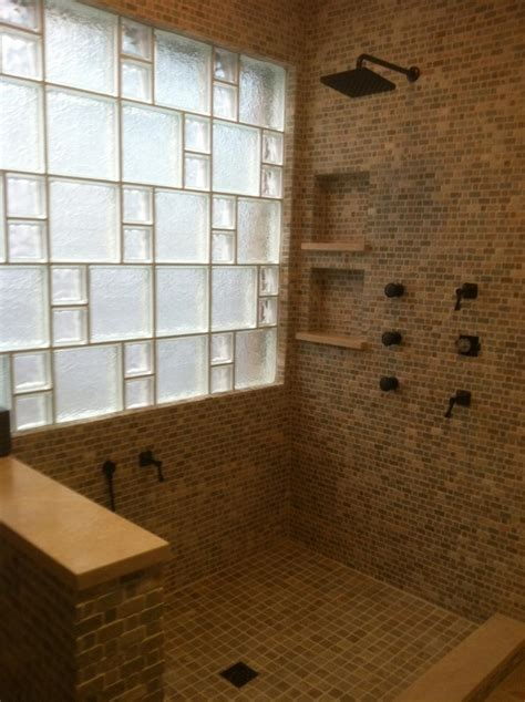 Glass Block Designs For Bathrooms by Glass Block Shower Designs Photos