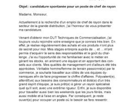 lettre de motivation chef de rayon par lettreutile
