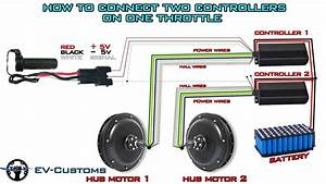 How To Connect Two Hub Motor Controllers On One Throttle