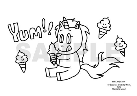 unicorn coloring pages funkawaiicom