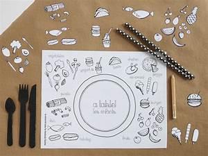 Set De Table Design : free printable set de table colorier pour les enfants colouring placemat for kids diy ~ Teatrodelosmanantiales.com Idées de Décoration