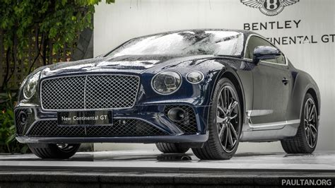 2018 Bentley Continental Gt Previewed In Singapore