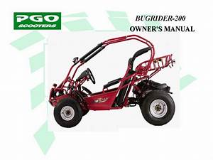 Buggy Pgo Bugrider 200 - Owners Manual