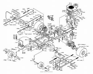 Dixon Ztr 542  1992  Parts Diagram For Chassis Assembly