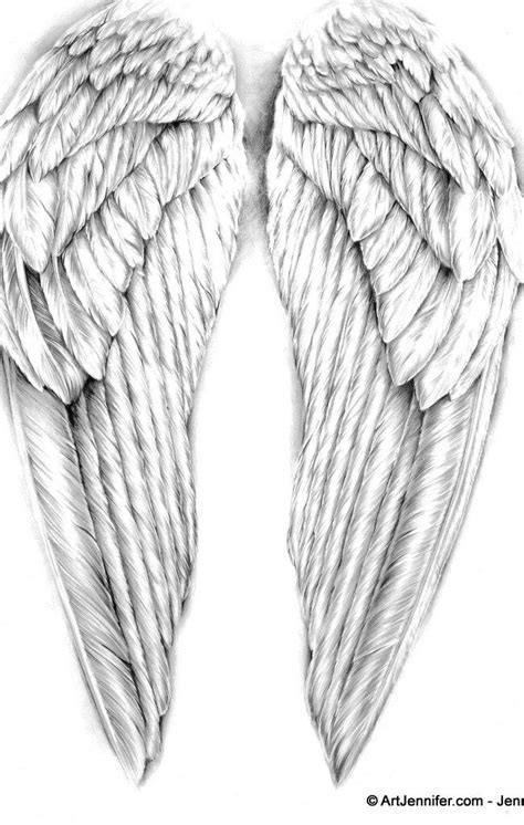 Pin by James Boyd on Angels/heaven tattoo ideas | Angel wings drawing, Wings drawing, Wing