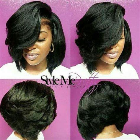 25 best ideas about feathered bob on black