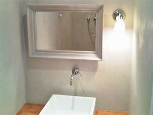 lavabo et salle de bain en beton cire a nantes betoncire With beton cire mur salle de bain