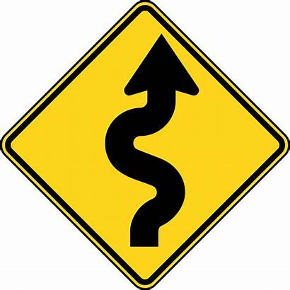 Road Winding Clipart Signs Etc Ahead Curves
