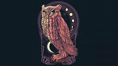 Deco Nouveau Desktop Wallpapers Computer Owl Owls