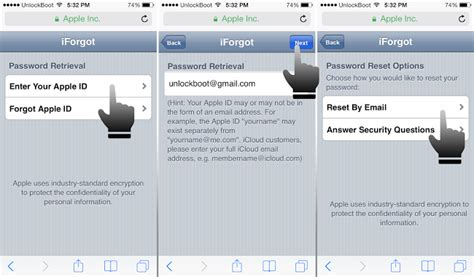 forgot apple id password on iphone 4 ways to recover a forgotten icloud password