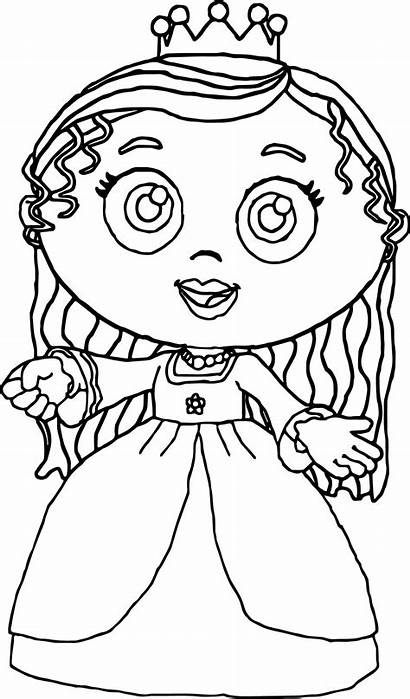 Coloring Pages Super Why Printable Princess Pea