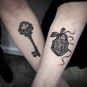 Tatouage Couple Original : key and lock tattoo couples tattoo tattoos lock ~ Melissatoandfro.com Idées de Décoration