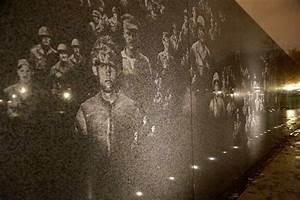 korean war memorial | Korean War memorial at night ...