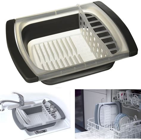 sink dish drainer collapsible folding rack
