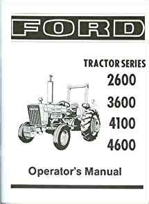 ford tractor     owners instruction