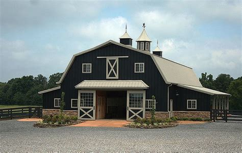 Barn With Black Trim by Farm History Deeply Rooted Farms Black Siding Gambrel