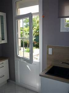 porte fermiere blanc avec imposte fixe vitre partie With porte d entrée alu avec meuble salle de bain starck