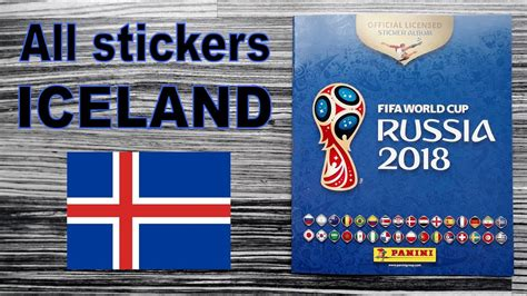 Complete Iceland Stickers Panini Fifa World Cup Album