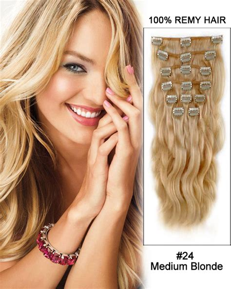pcs straight clip  remy human hair extensions